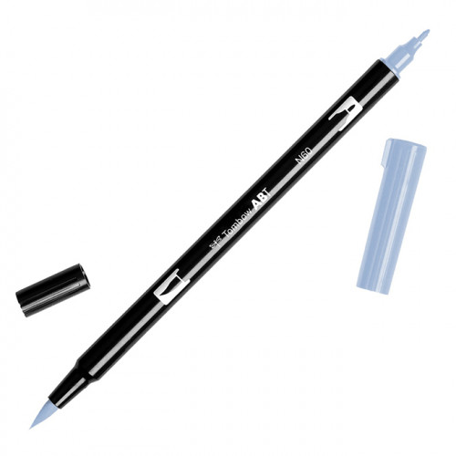 Feutre Tombow double-pointe Gris froid 6 N60