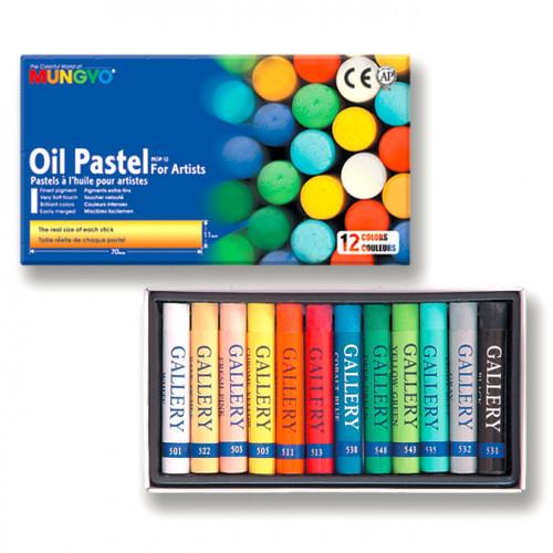 Boîte de 12 pastels à l'huile