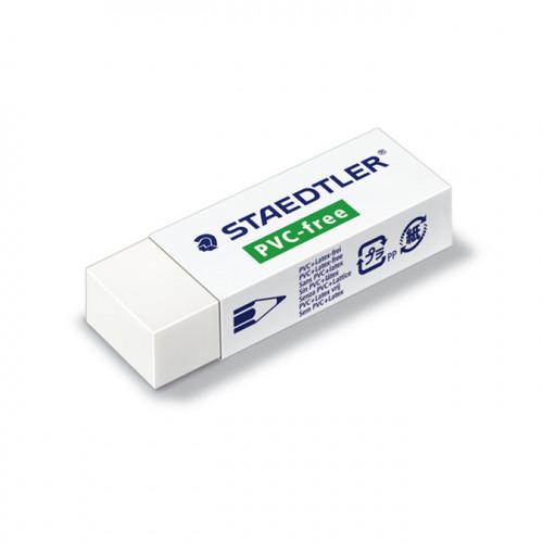 Gomme blanche Staedtler sans PVC ni latex - 6,5 x 2,3 cm