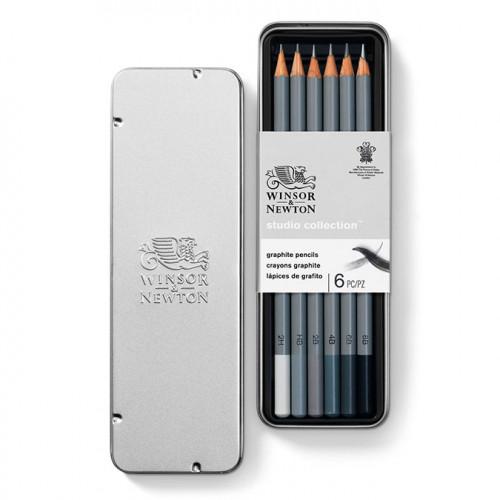Lot de 6 crayons graphite Studio Collection