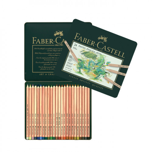 Boîte en métal de 24 crayons Pitt pastel