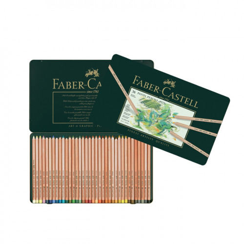 Boîte en métal de 36 crayons Pitt pastel