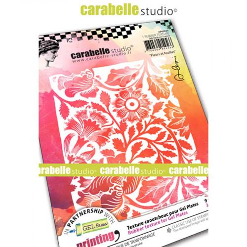 Tampon texture Fleurs et feuilles  - A6