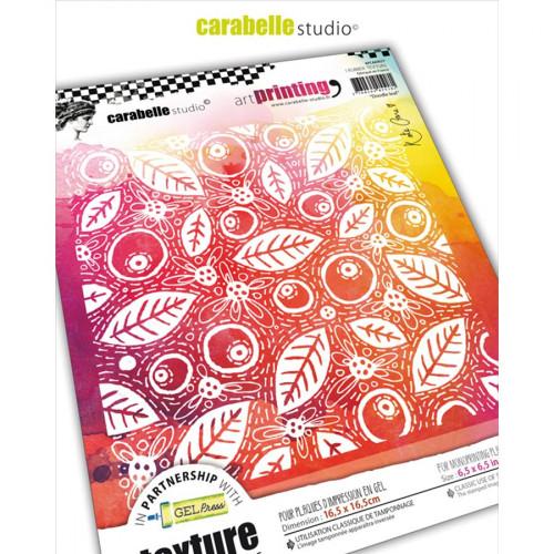 Tampon texture Feuilles Doodeling - 16,5 x 16,5 cm
