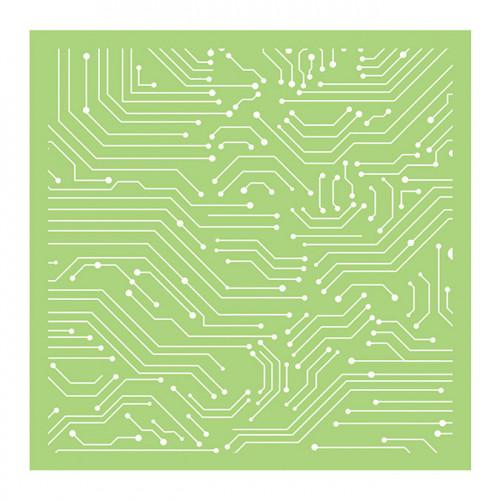 Pochoir Lignes circuits - 15 x 15 cm