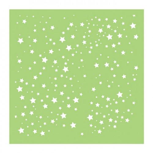 Pochoir Ciel étoilé - 15 x 15 cm