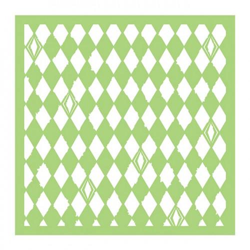 Pochoir Losanges effet délavé - 15 x 15 cm