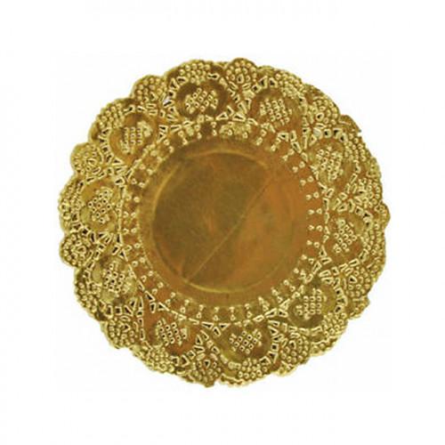 Napperons dorés Ø 13 cm