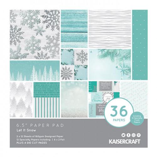 Let it Snow Bloc de papiers 16,5 x 16,5 cm
