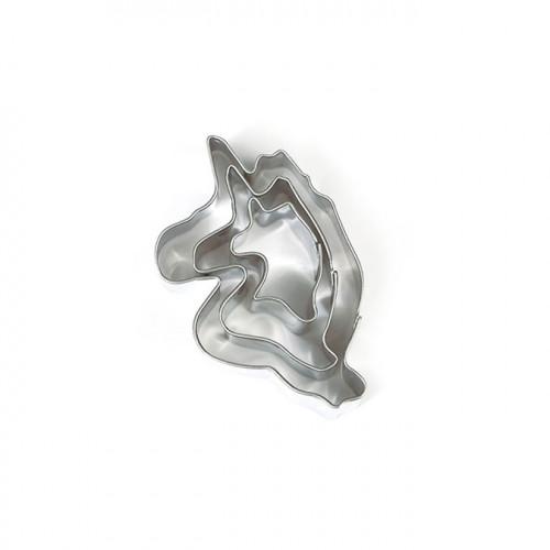 Emporte-pièces Licornes pour pâte polymère - 3 pcs
