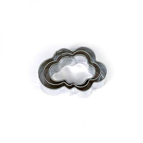 Emporte-pièces Nuages pour pâte polymère - 3 pcs