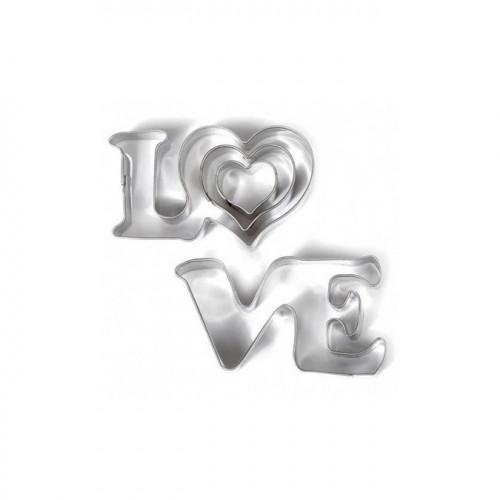 Emporte-pièces Love pour pâte polymère - 4 pcs