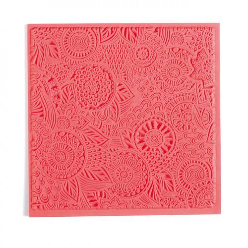 Tapis de texture Fleurs pour pâte polymère - 9 x 9 cm