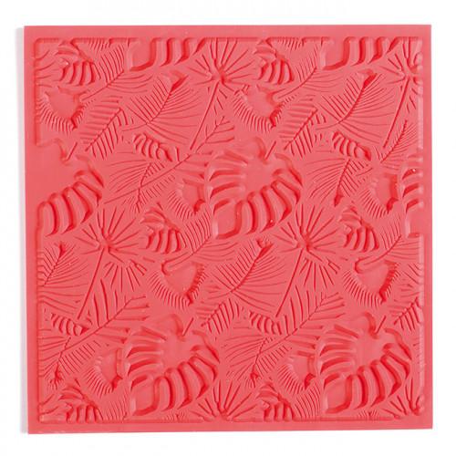 Tapis de texture Feuillages pour pâte polymère - 9 x 9 cm