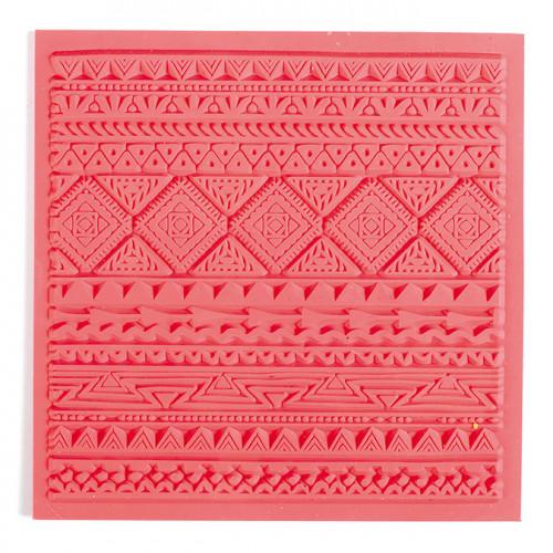 Tapis de texture Ethnique pour pâte polymère - 9 x 9 cm