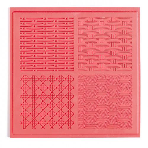 Tapis de texture Vannerie pour pâte polymère - 9 x 9 cm