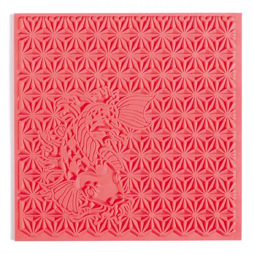 Tapis de texture Japon pour pâte polymère - 9 x 9 cm