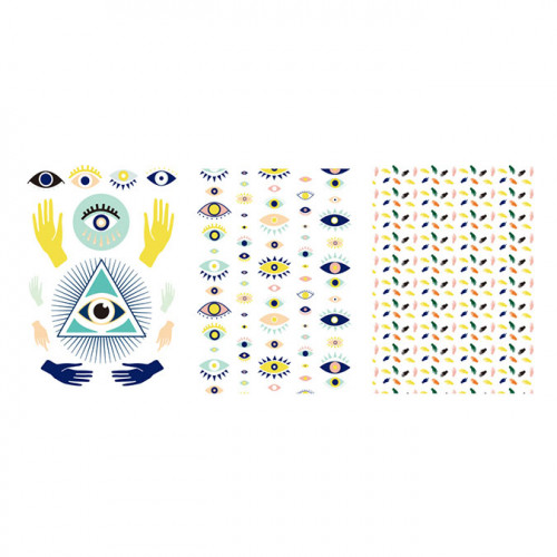 Transferts Evil Eye pour pâte polymère - A6