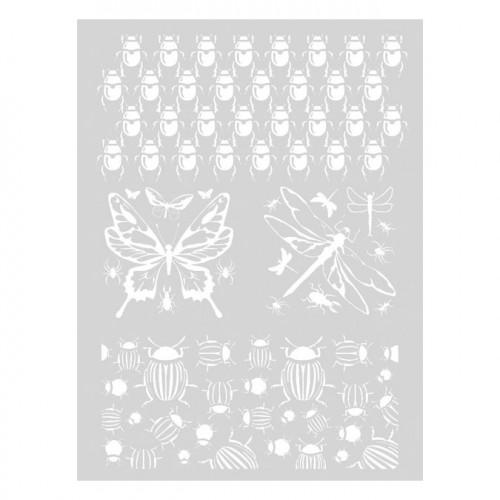 Pochoir Insectes pour pâte polymère - 11,4 x 15,3 cm