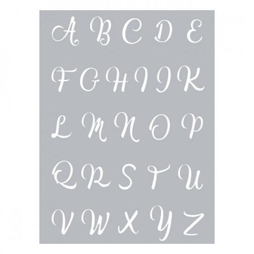 Pochoir Alphabet pour pâte polymère - 11,4 x 15,3 cm