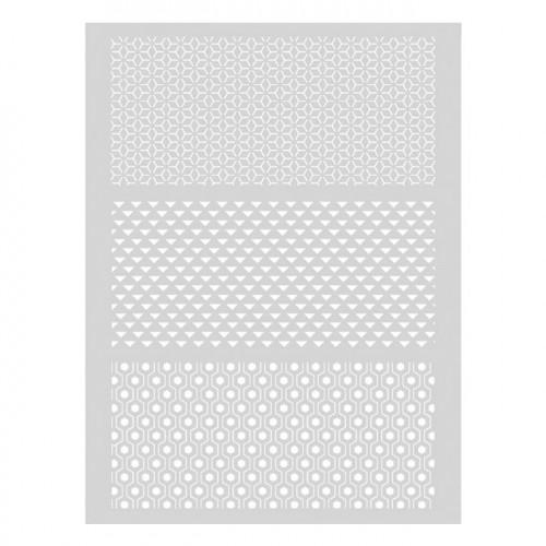 Pochoir Graphique pour pâte polymère - 11,4 x 15,3 cm