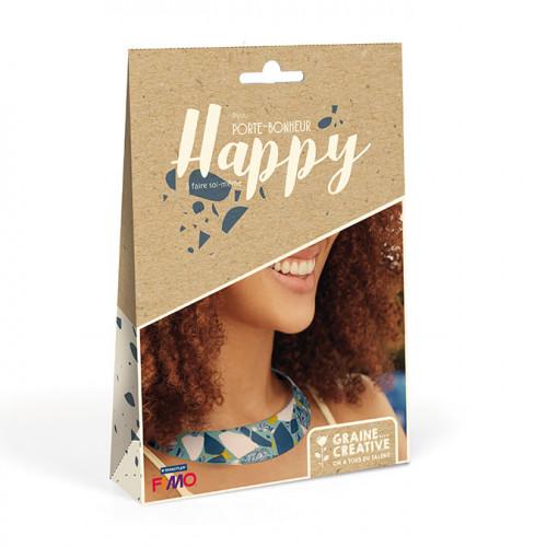 Kit Fimo Bijoux Porte-Bonheur Happy DIY