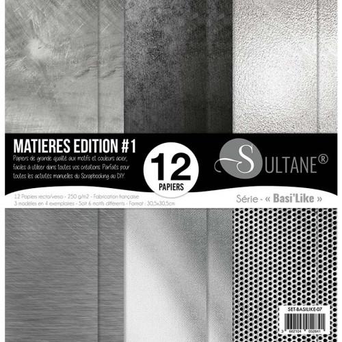 Papiers imprimés Matières Edition #1 Acier