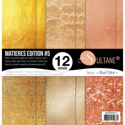 Papiers imprimés Matières Edition #5 Or