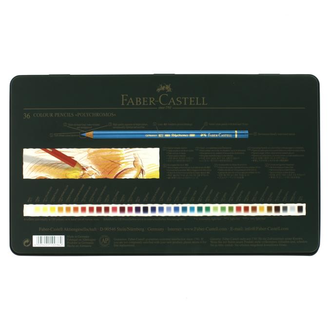 Boîte métal de 36 crayons de couleurs Polychromos
