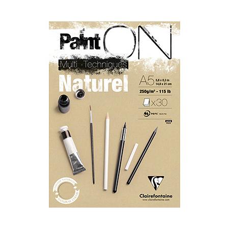 Bloc Paint'On papier Naturel 250 g/m² - A5 - 30 feuilles