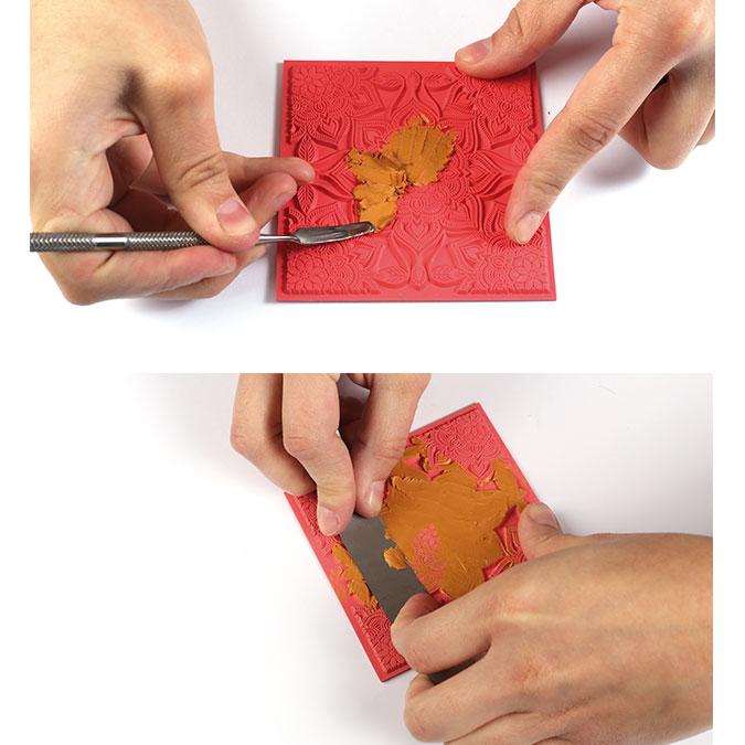 Tapis de texture Boho chic pour pâte polymère - 9 x 9 cm
