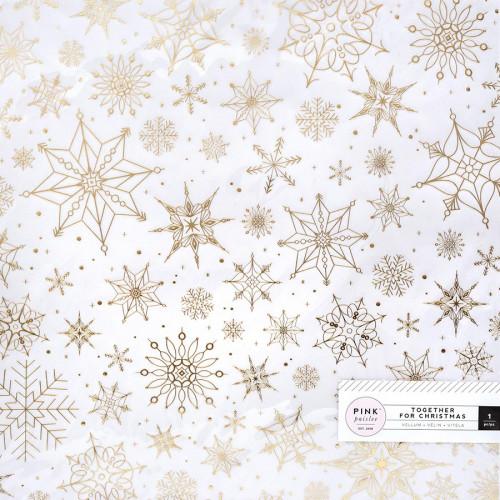 Together for Christmas - Papier spécial Vellum Flocons dorés