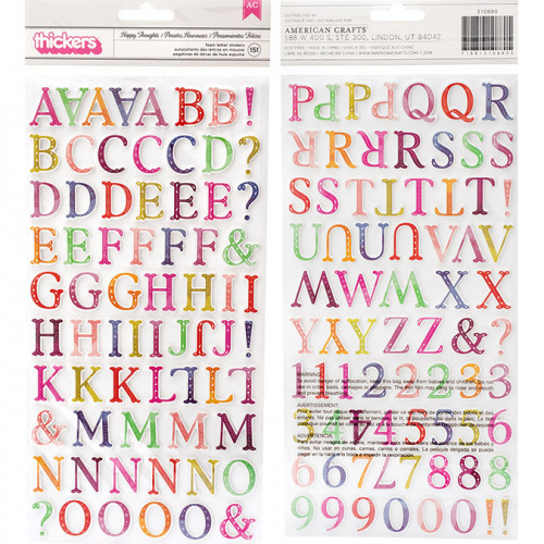 Alphabet Stickers en mousse multicolore - 151 pcs