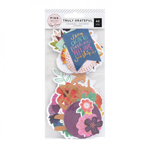 Truly Grateful Découpes en papier - 40 pcs