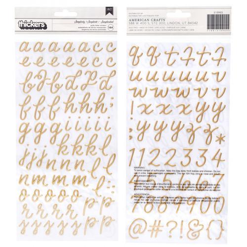 Alphabet Puffy Stickers - 144 pcs