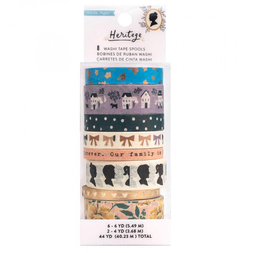 Heritage Washi Tape - 8 rouleaux