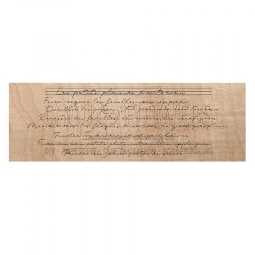 Tampon bois Plaisirs d'automne - 13,5 x 4,5 cm