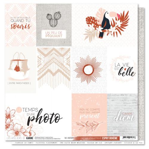 Esprit Bohème - Papier L'instant étiquettes