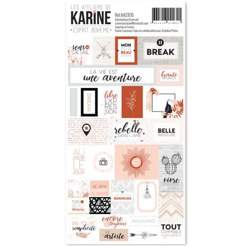 Esprit Bohème Stickers étiquettes