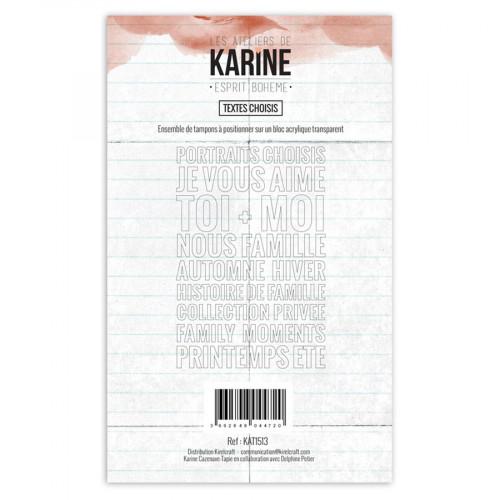 Tampon transparent Textes choisis