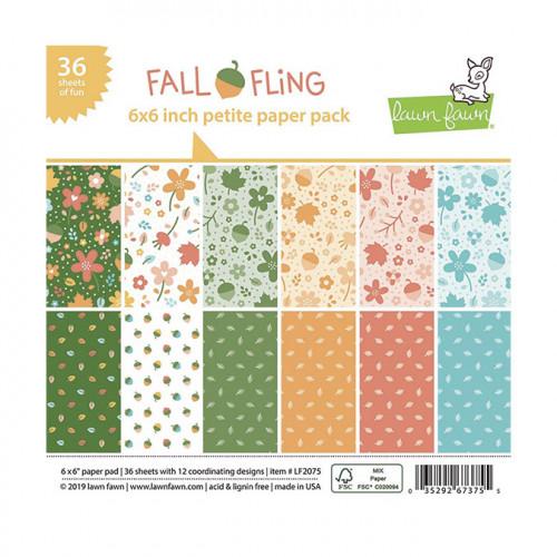 Bloc de papiers Fall Fling - 15 x 15 cm
