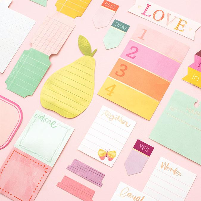 Truly Grateful Etiquettes journaling - 25 pcs