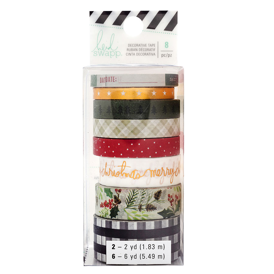 Winter Wonderland Rubans décoratifs - 8 rouleaux