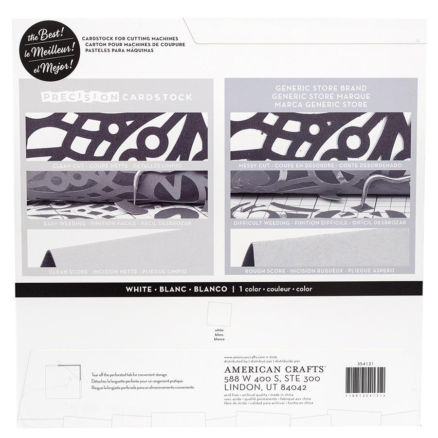 Cardstock de précision texturé Blanc