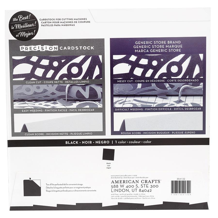 Cardstock de précision texturé Noir