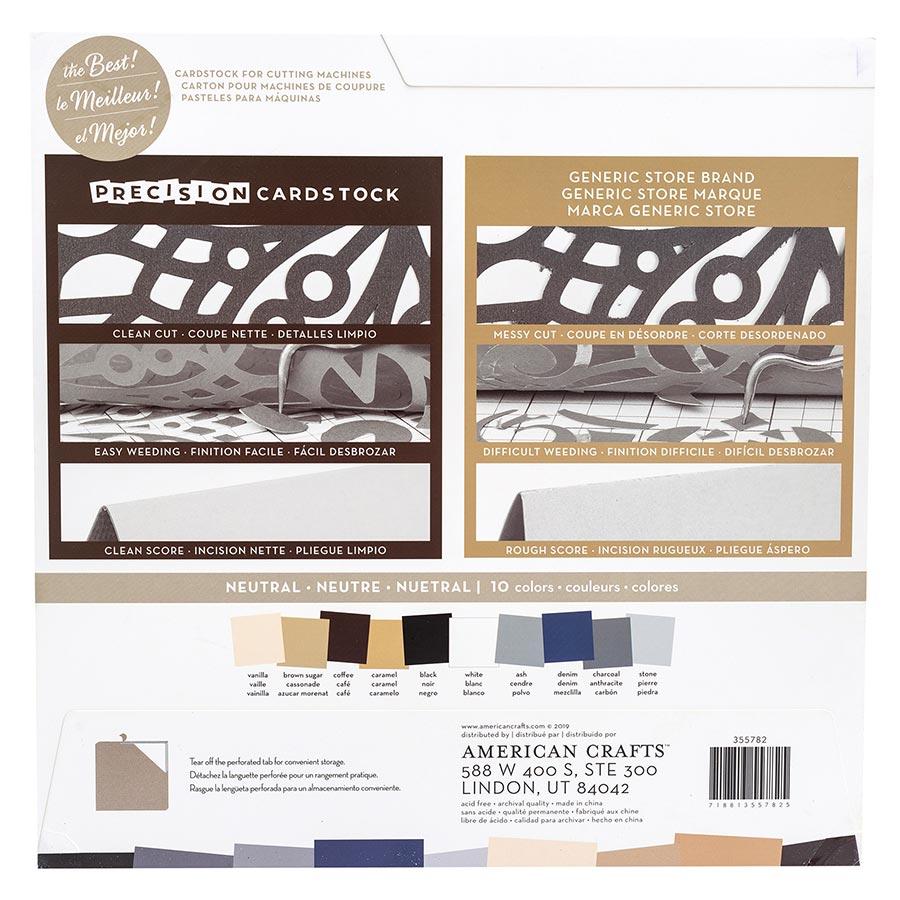 Cardstock de précision lisse Couleurs neutres