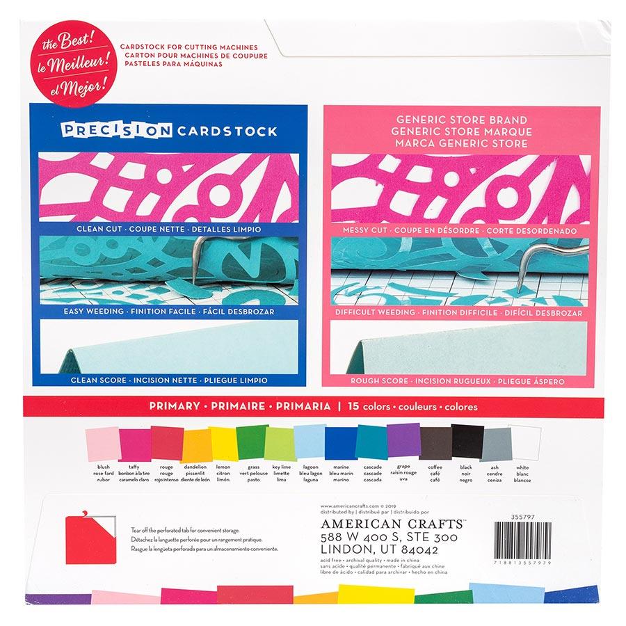 Cardstock de précision lisse couleurs primaires
