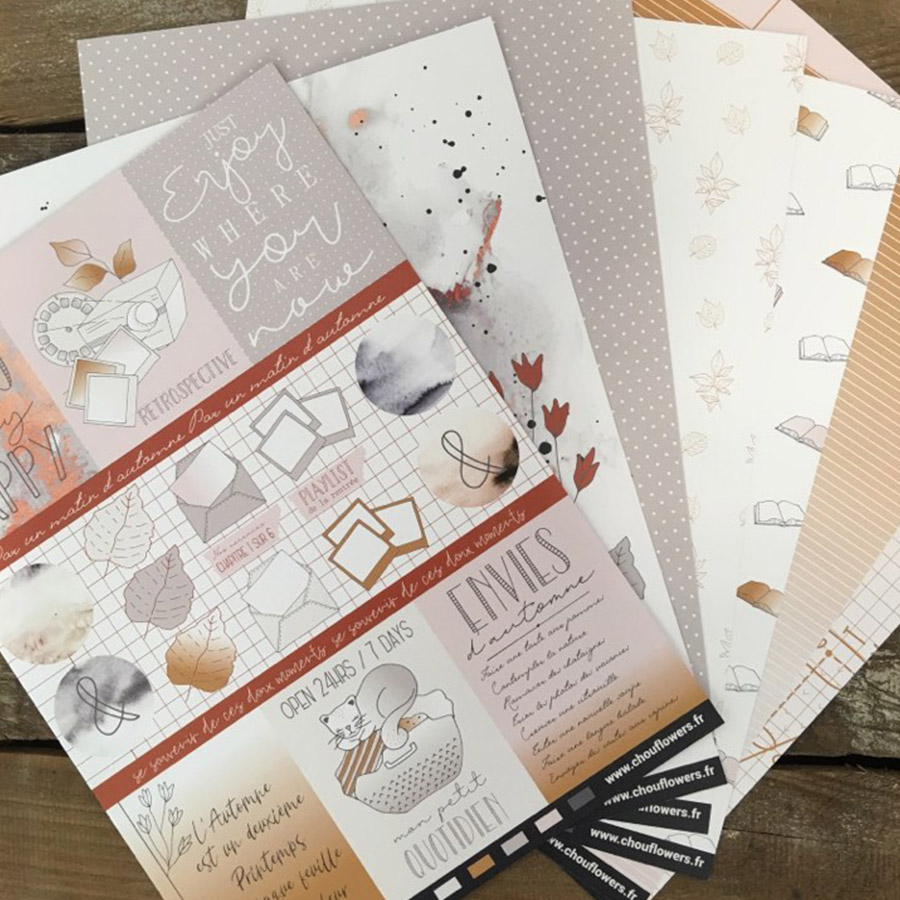 Papiers à motifs A4 Brin d'automne