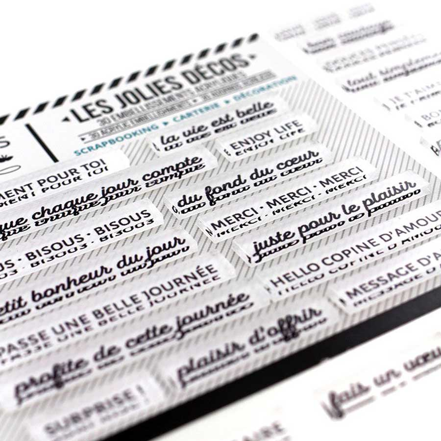 Décos Mots doux Edelweiss - 30 embellissements acryliques