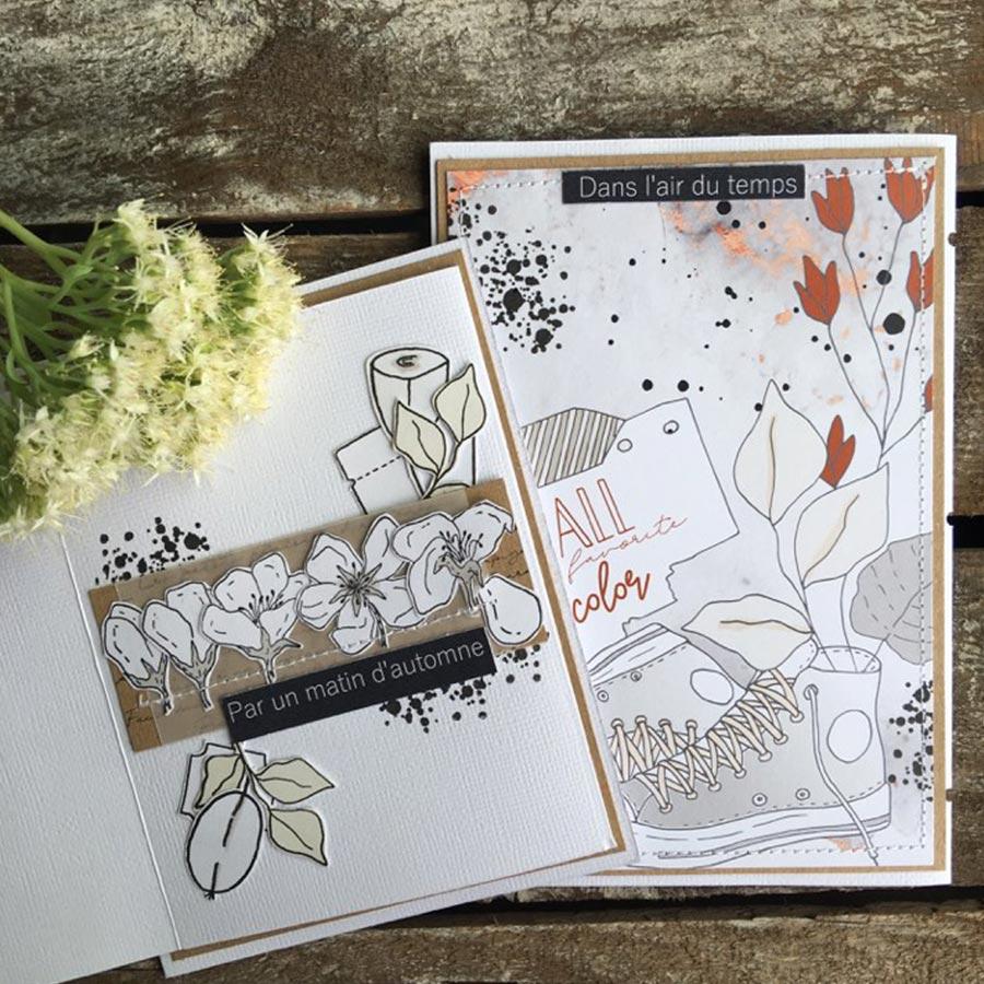 Tampon bois Fleur de pommier - 13,5 x 4,5 cm